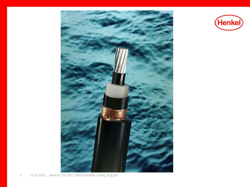 13.02.2002Henkel / TIA-CE / cable hotmelts / cable_eng.ppt5