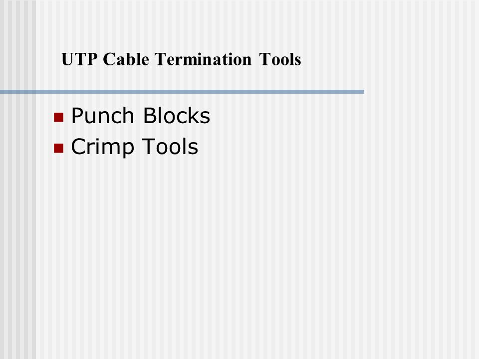 UTP Cable Termination Tools Punch Blocks Crimp Tools