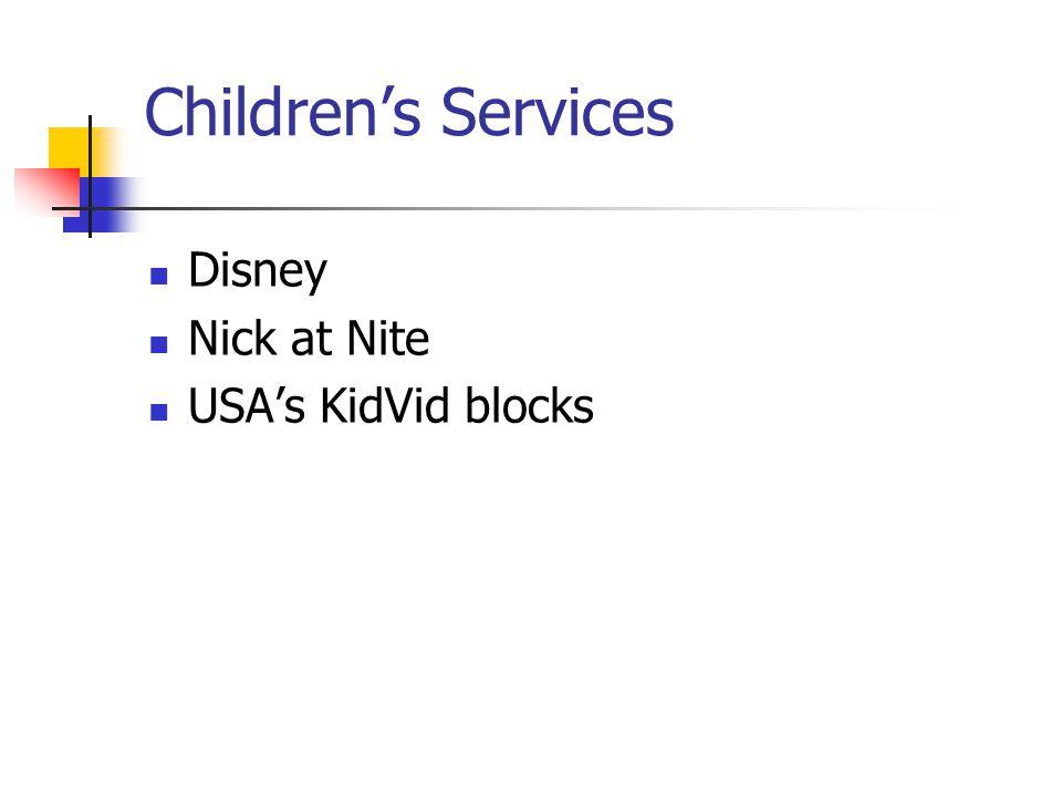 Childrens Services Disney Nick at Nite USAs KidVid blocks
