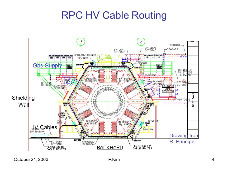 October 21, 2003P.Kim5 BABAR CABLE TRAYS LST will use North Tray TRAYS are Busy, but Space available for LST HV/Gas Lines
