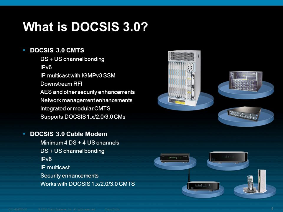 4 © 2008 Cisco Systems, Inc. All rights reserved.C Cisco Public What is DOCSIS 3.0.