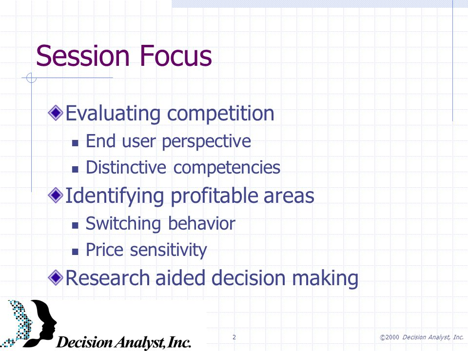 2©2000 Decision Analyst, Inc.