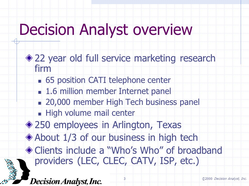 3©2000 Decision Analyst, Inc.