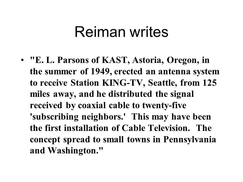 Reiman writes E. L.