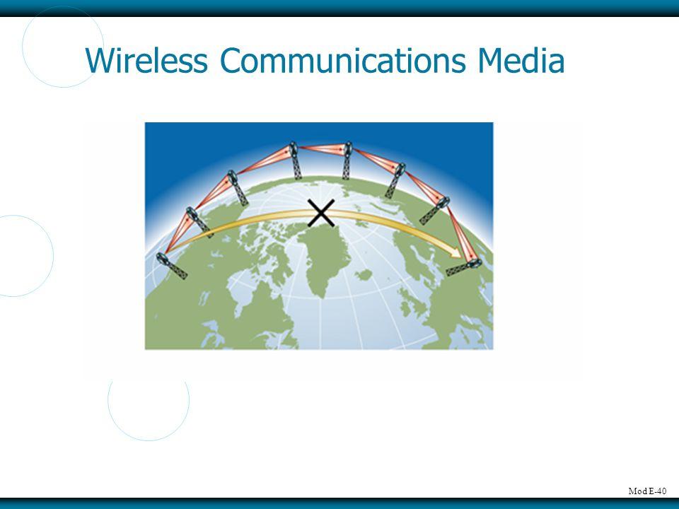 Mod E-40 Wireless Communications Media