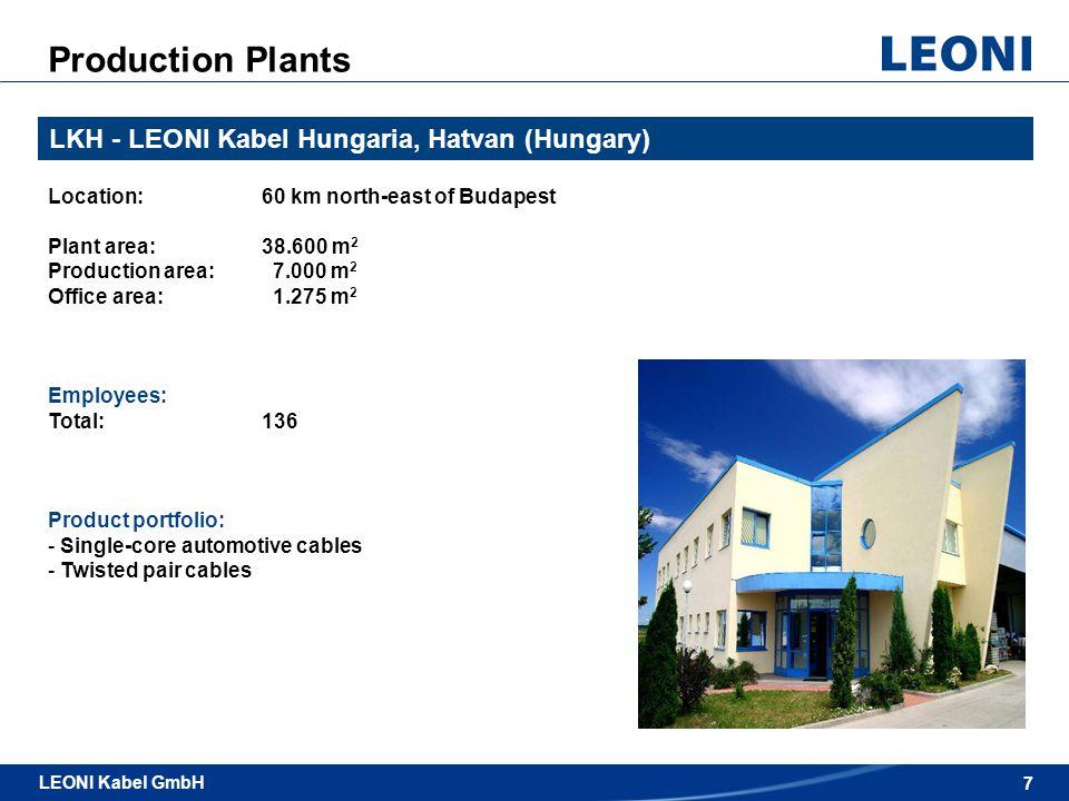 8 LEONI Kabel GmbH / Automotive & Standard Cables LEONI Kabel GmbH 8 LKT - LEONI Kablo ve Teknolojileri, Gemlik (Turkey) Location:ca.