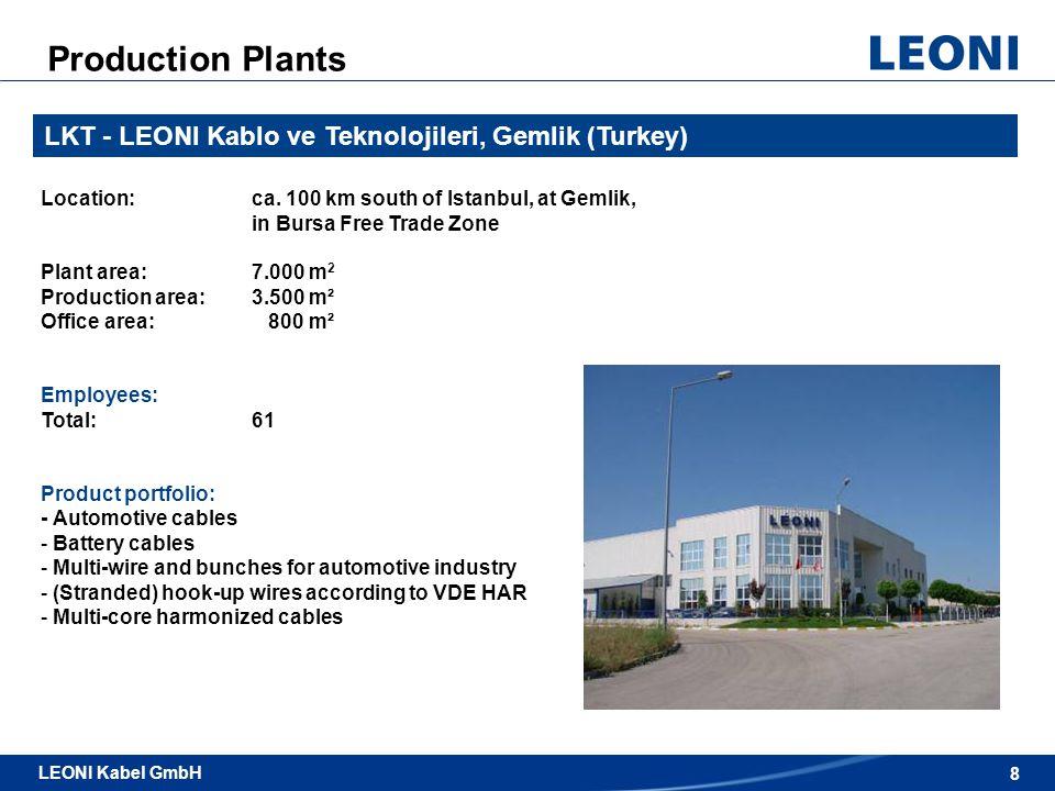 9 LEONI Kabel GmbH / Automotive & Standard Cables LEONI Kabel GmbH 9 LCMA - LEONI Cable Maroc, SARL, Casablanca (Morocco) Location:ca.