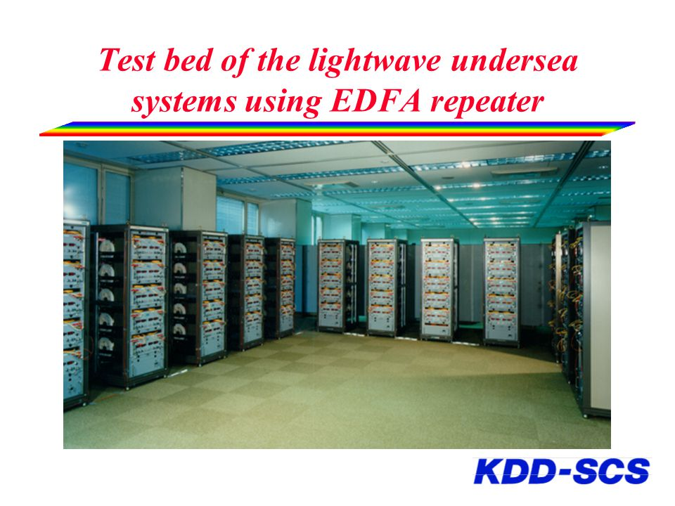 Test bed of the lightwave undersea systems using EDFA repeater