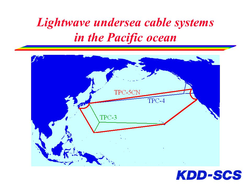 Lightwave undersea cable systems in the Pacific ocean