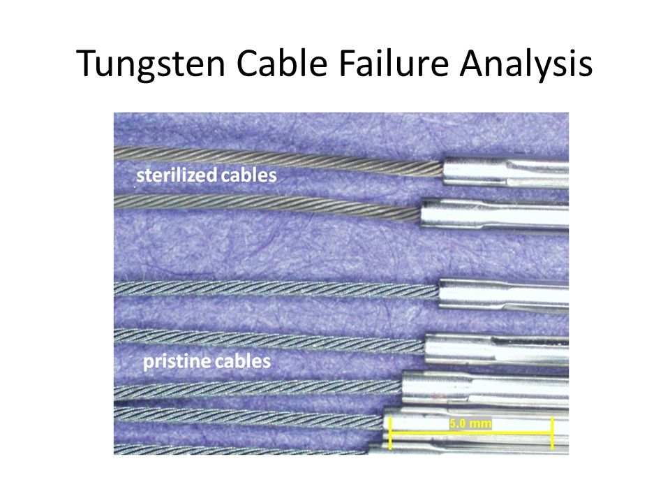 Tungsten Cable Failure Analysis