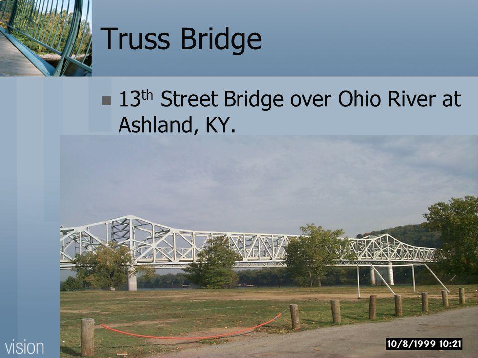 Truss Bridge 13 th Street Bridge over Ohio River at Ashland, KY.