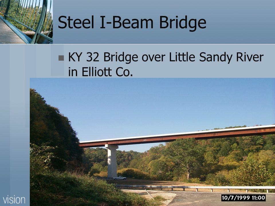 Steel I-Beam Bridge KY 32 Bridge over Little Sandy River in Elliott Co.