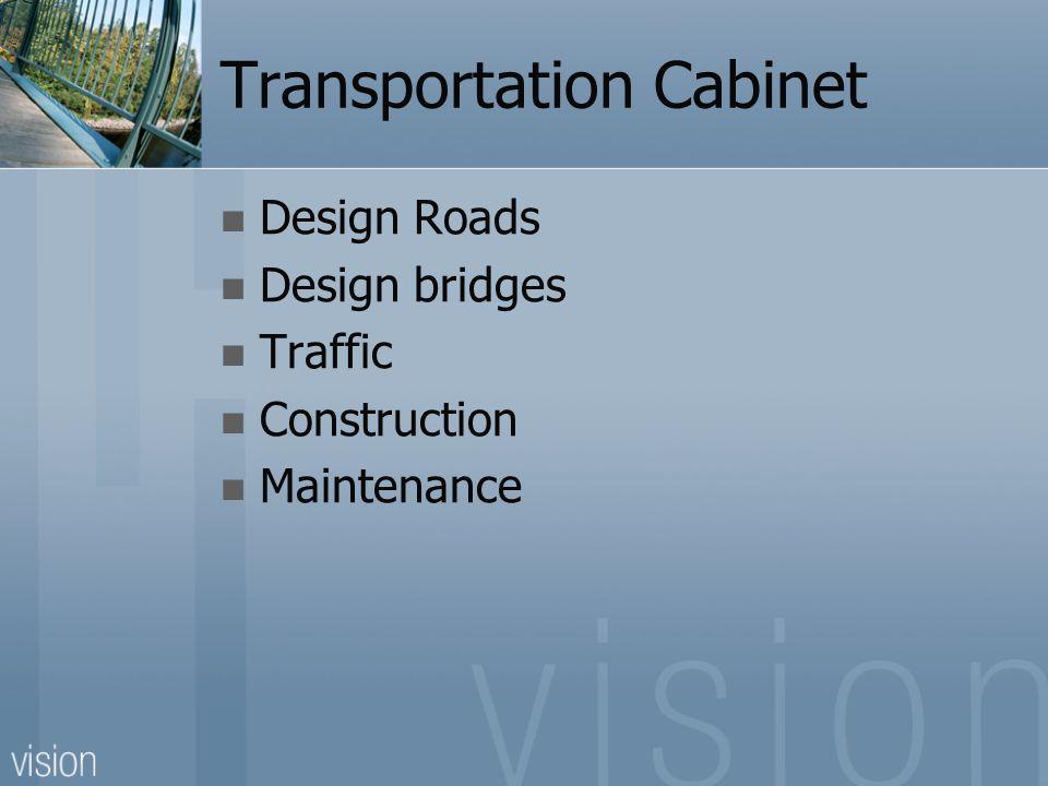 Transportation Cabinet Design Roads Design bridges Traffic Construction Maintenance