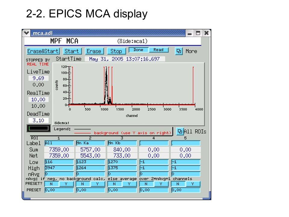 2-2. EPICS MCA display