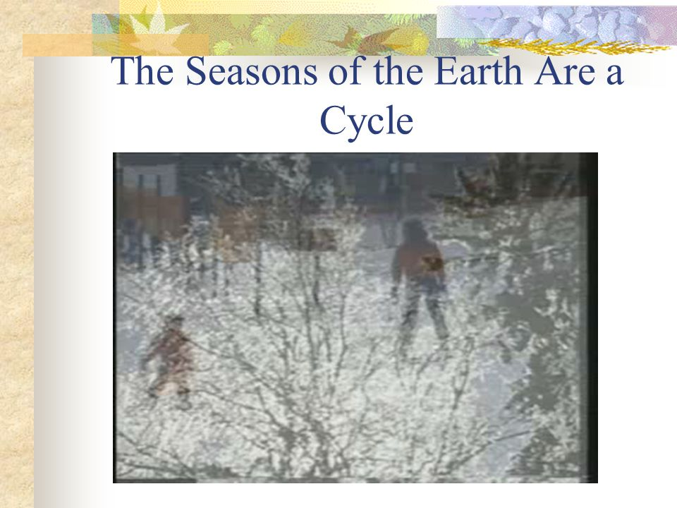The Seasons of the Earth Are a Cycle
