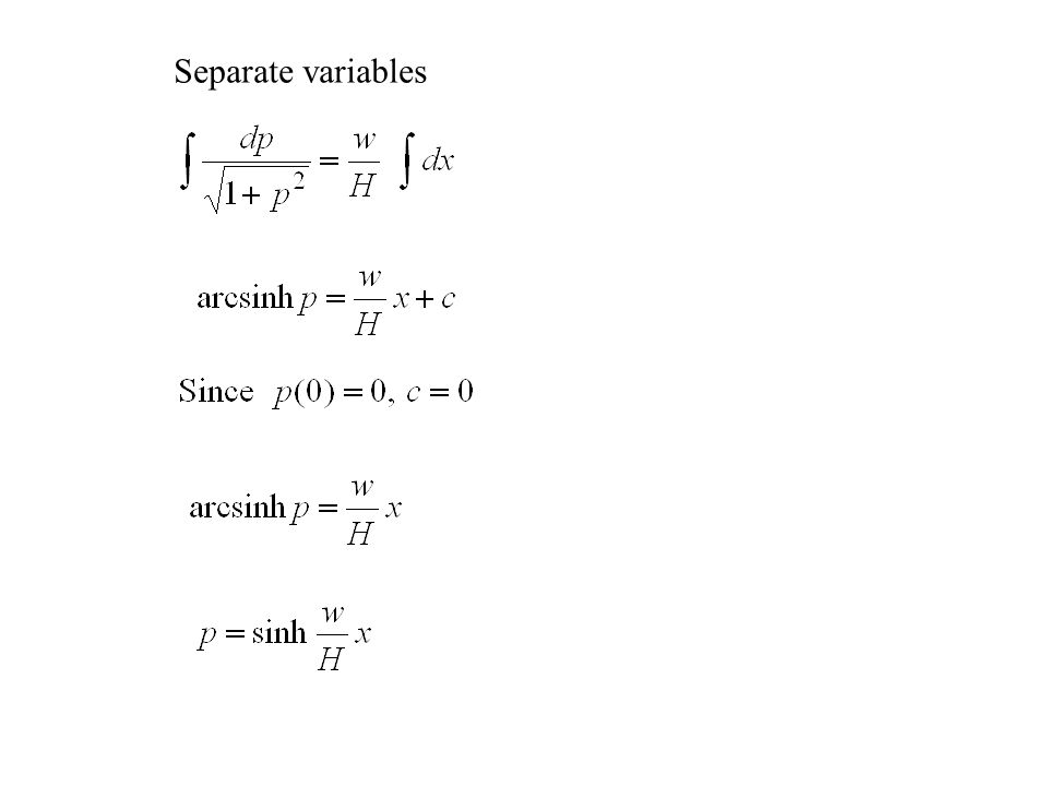 Separate variables