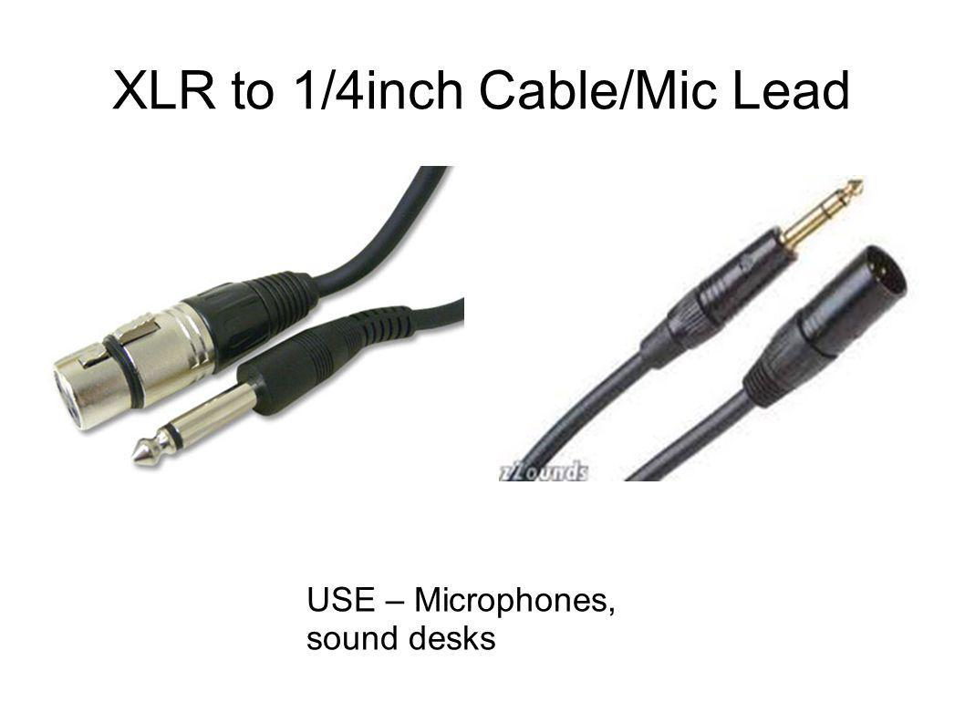 XLR to 1/4inch Cable/Mic Lead USE – Microphones, sound desks