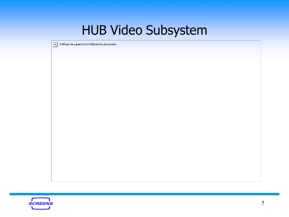 5 HUB Video Subsystem