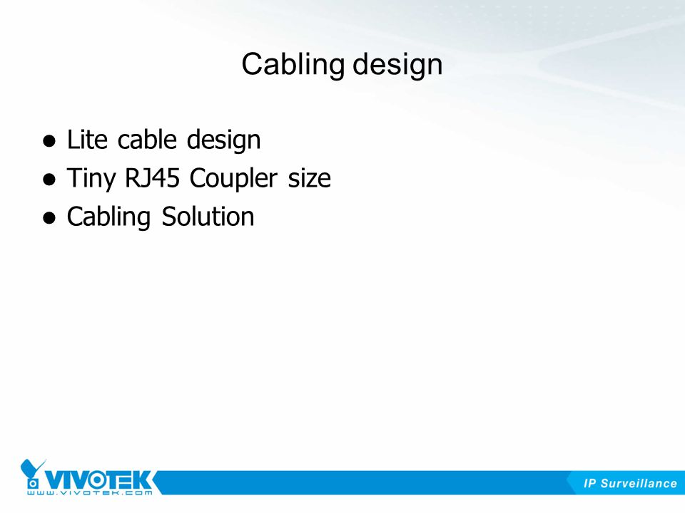 Cabling design Lite cable design Tiny RJ45 Coupler size Cabling Solution
