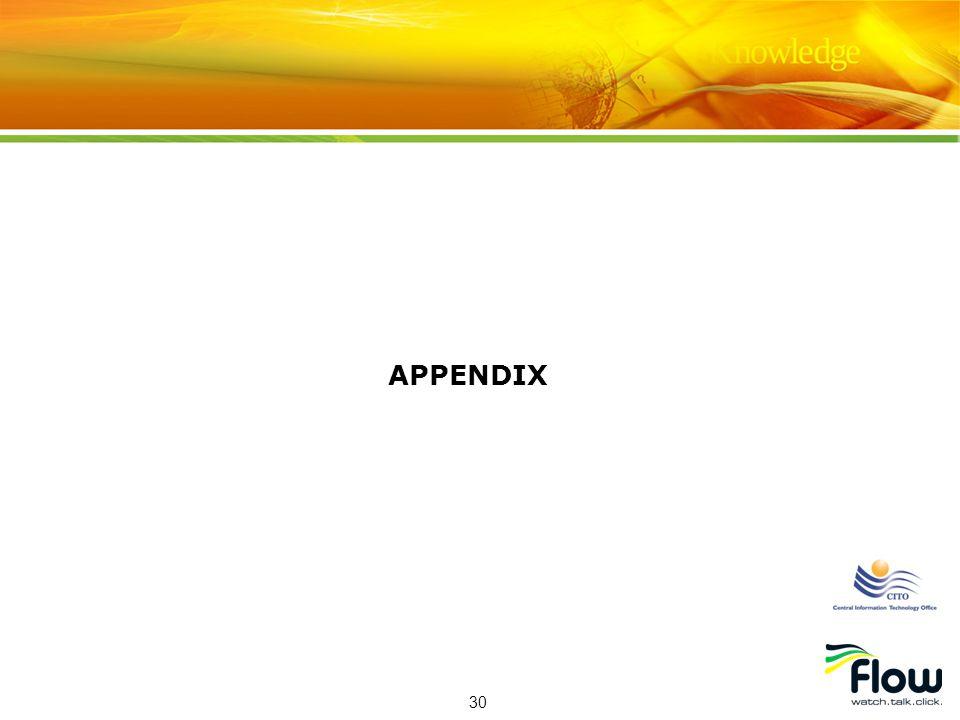 30 APPENDIX