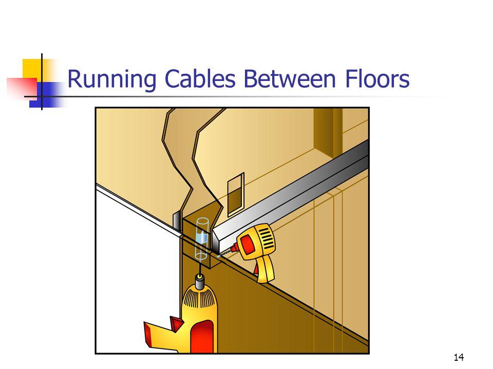 14 Running Cables Between Floors