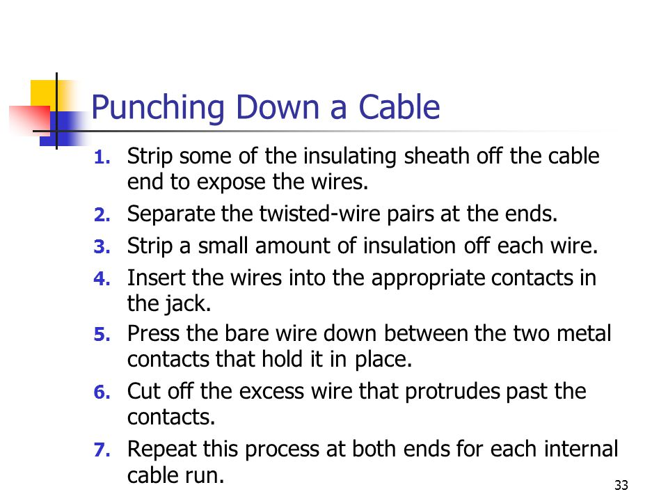 33 Punching Down a Cable 1.