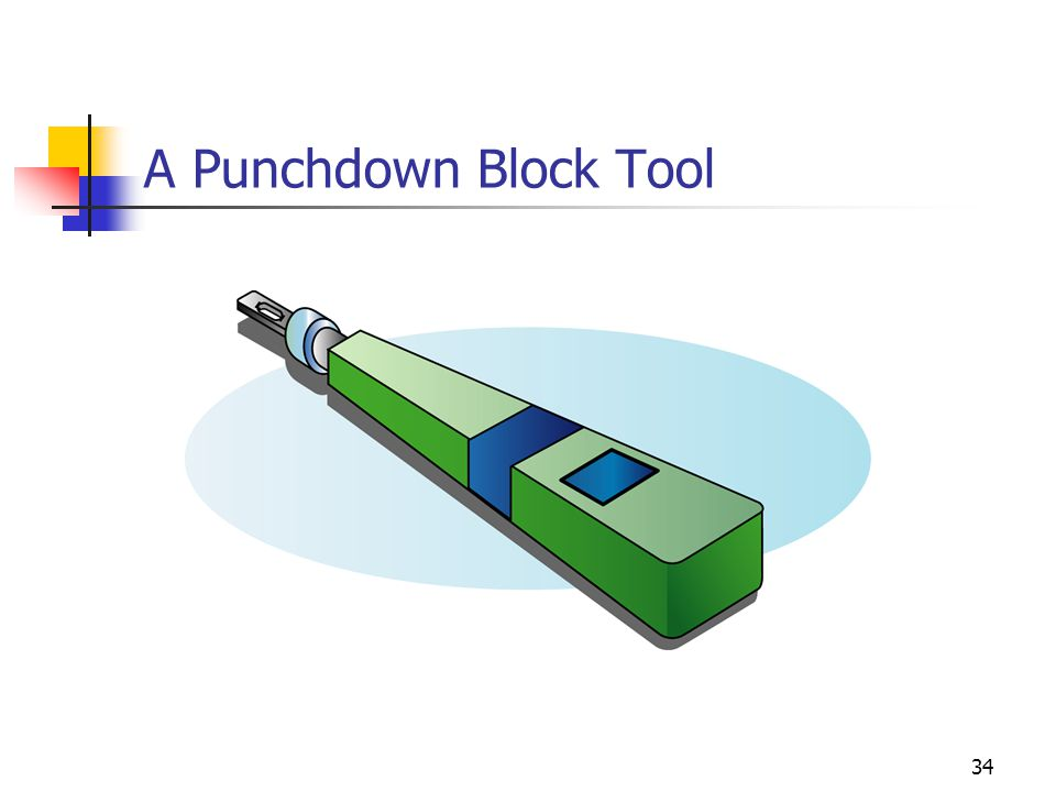34 A Punchdown Block Tool