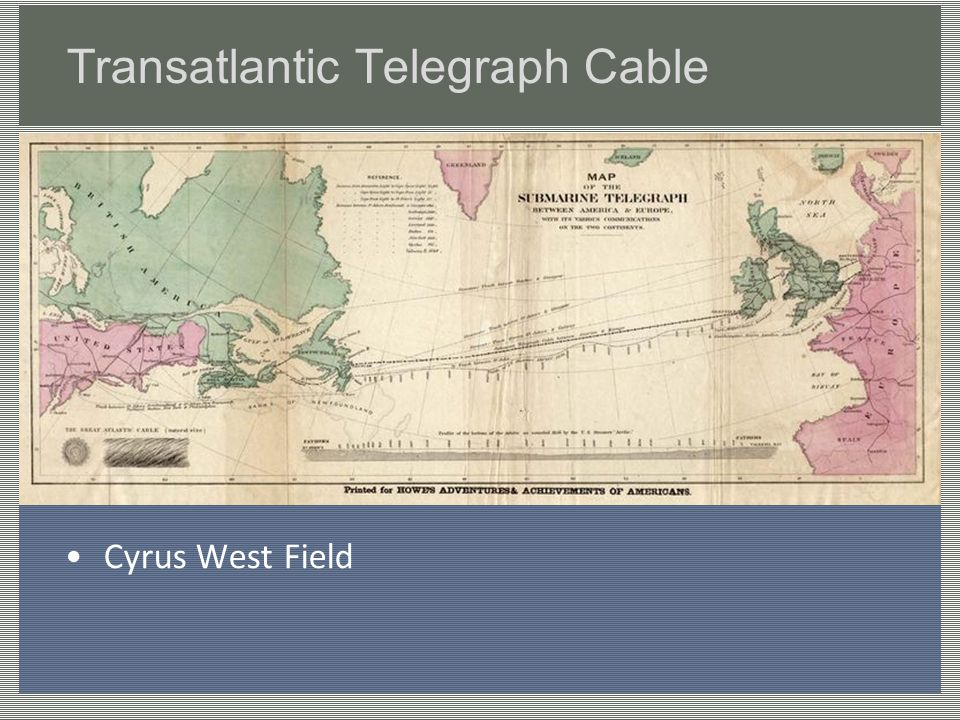 Transatlantic Telegraph Cable Cyrus West Field
