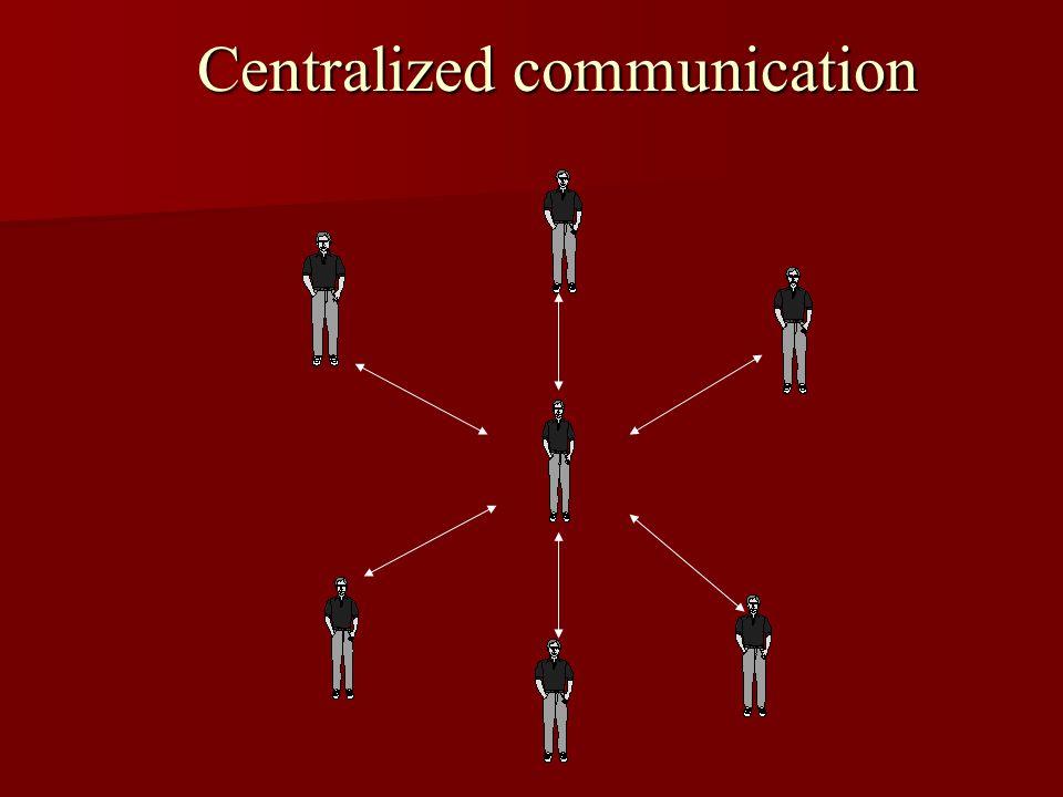 Centralized communication