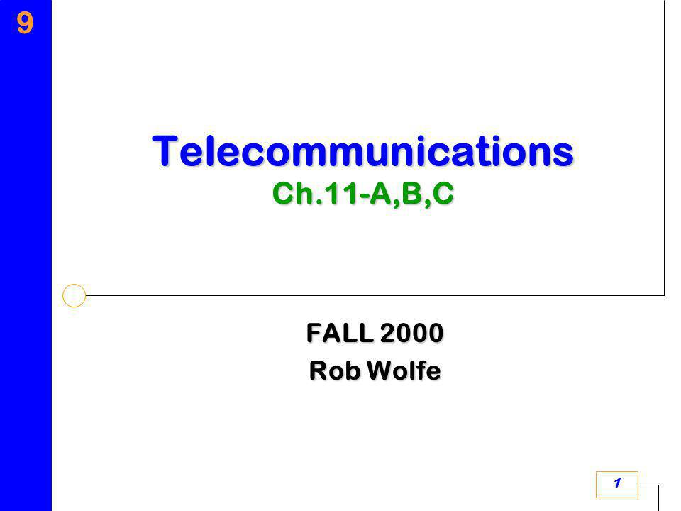 9 1 FALL 2000 Rob Wolfe Telecommunications Ch.11-A,B,C