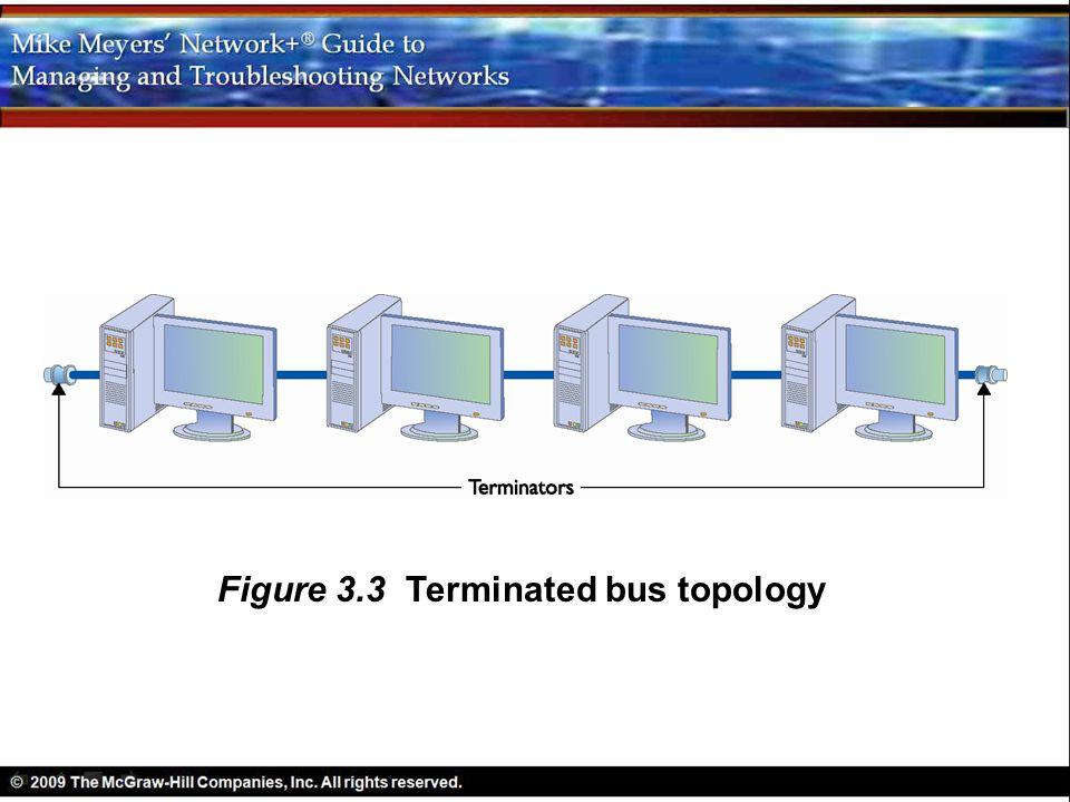 Figure 3.3 Terminated bus topology