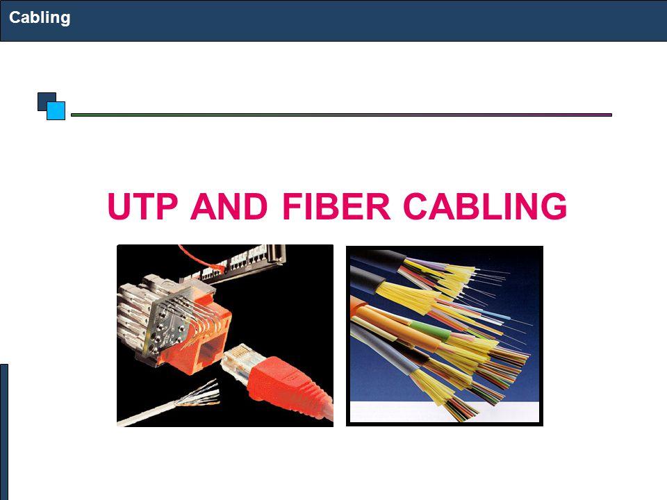 Cabling UTP AND FIBER CABLING
