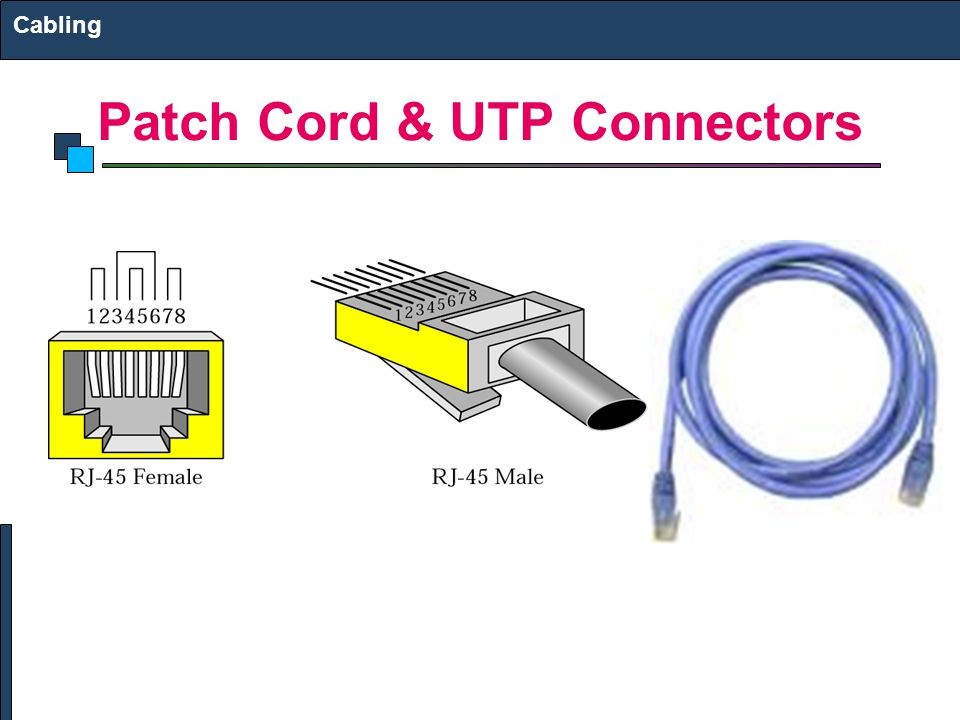 Patch Cord & UTP Connectors Cabling