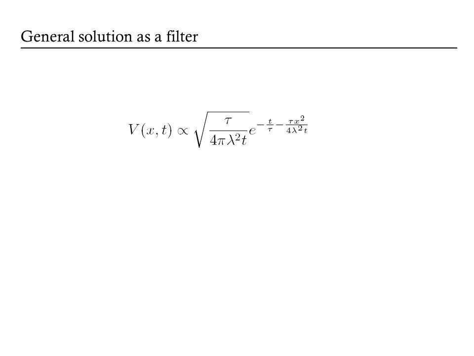 General solution as a filter