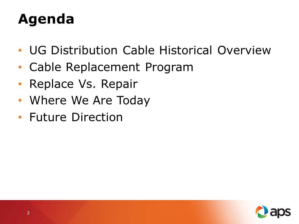 UG Distribution Cable Historical Overview