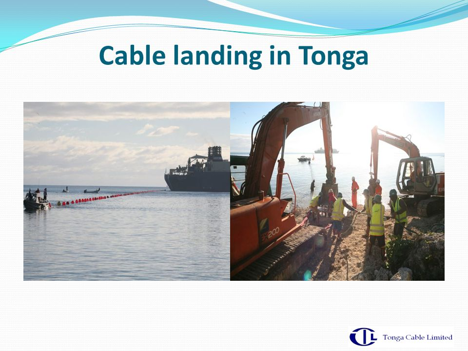 Cable landing in Tonga