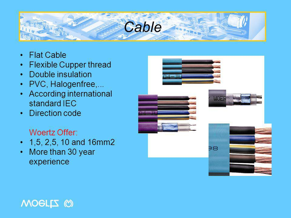 Flat Cables Approval Ecobus Power 5x2,5 (ref 49845)VDE Reg-Nr 7596, Lloyds Reg-01-20038 Ecobus Power 5x2,5 (ref 49846)VDE Reg-Nr 7597, Lloyds Reg-01-20038 Ecobus Power 5x10 (ref 49884)VDE Reg-Nr 9475 Ecobus Power 5x10 (ref 49885)VDE Reg-Nr 9480 Ecobus Combi (ref 49945)VDE Reg-Nr 9921, Lloyds Reg-01-20038 Ecobus Combi (ref 40946)VDE Reg-Nr 6548, Lloyds Reg-01-20038 Ecobus Data (ref 49947)VDE Reg-Nr 6598, Lloyds Reg-01-20038 Ecobus Data (ref 49948)VDE Reg-Nr 7010, Lloyds Reg-01-20038 Ecofi i 7x2,5 (ref 49600)VDE Reg-Nr 7654 Ecofil i 7x2,5 (ref 49601)VDE Reg-Nr 7652 Ecofil i 5x16 (ref 49605)VDE Reg-Nr 9475 Ecofil i 5x16 (ref 49606)VDE Reg-Nr 9480, Lloyds Reg-01-20038