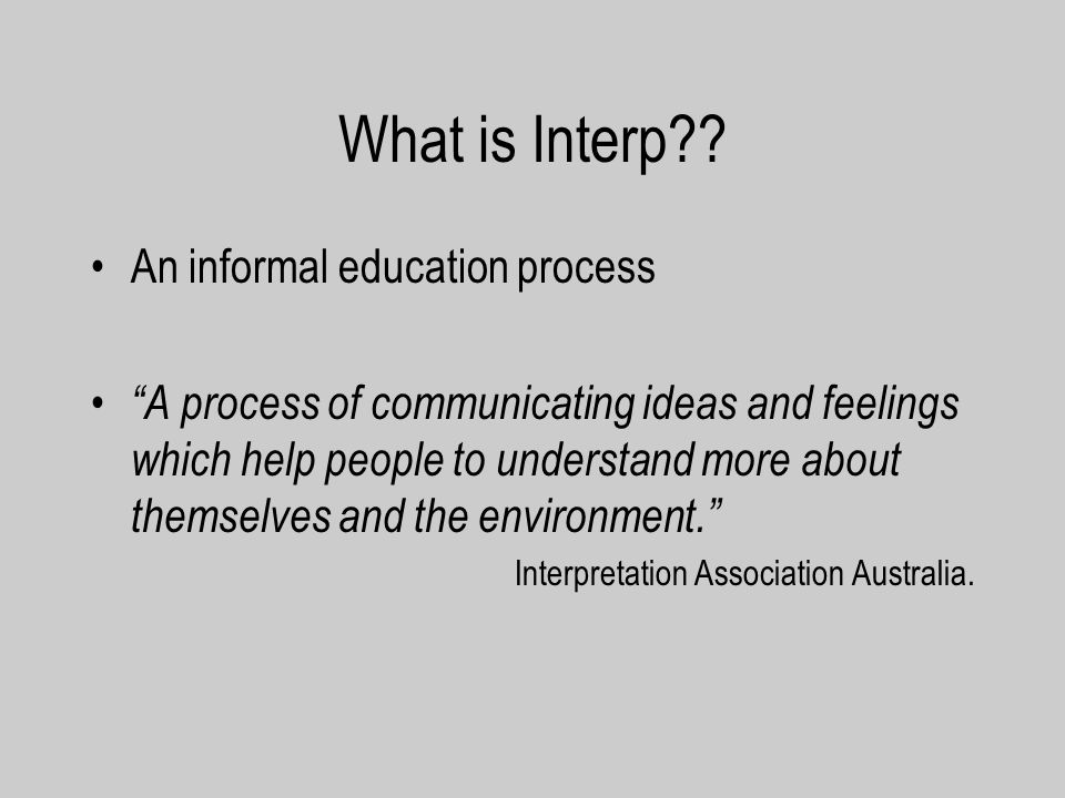 What is Interp?.