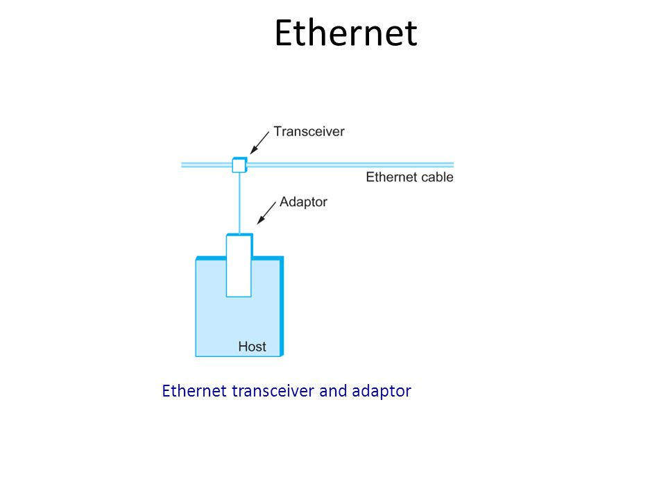 Ethernet Addresses Each frame transmitted on an Ethernet is received by every adaptor connected to that Ethernet.