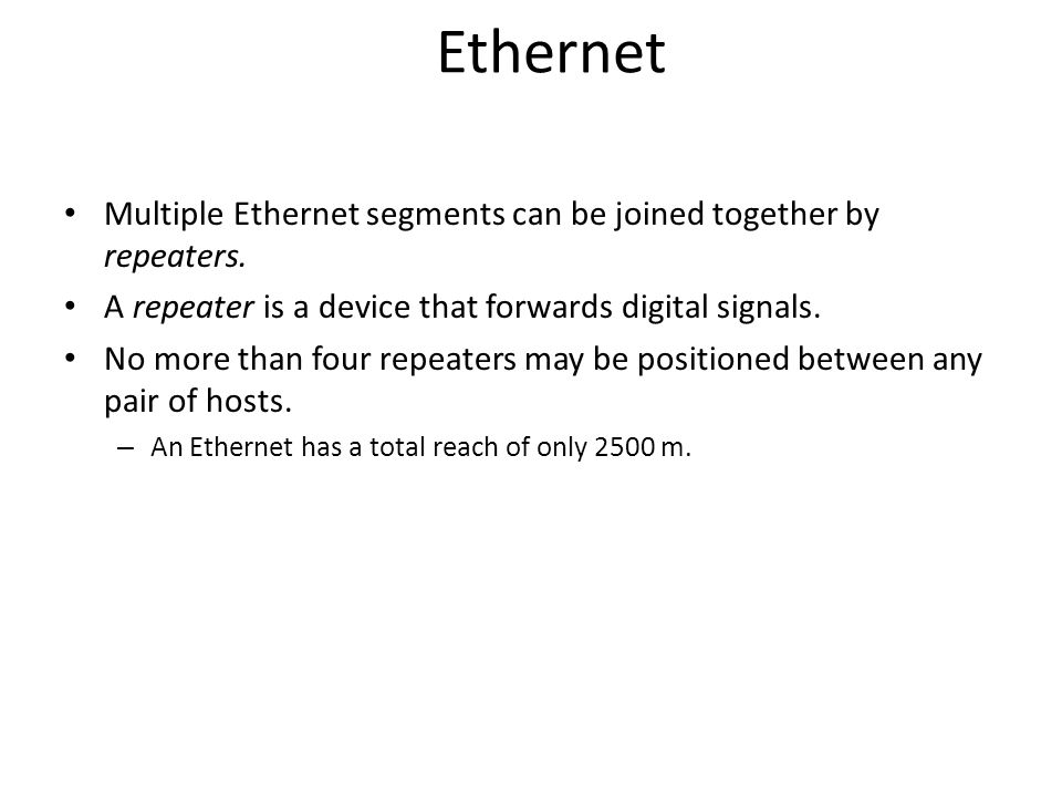 Ethernet Ethernet repeater