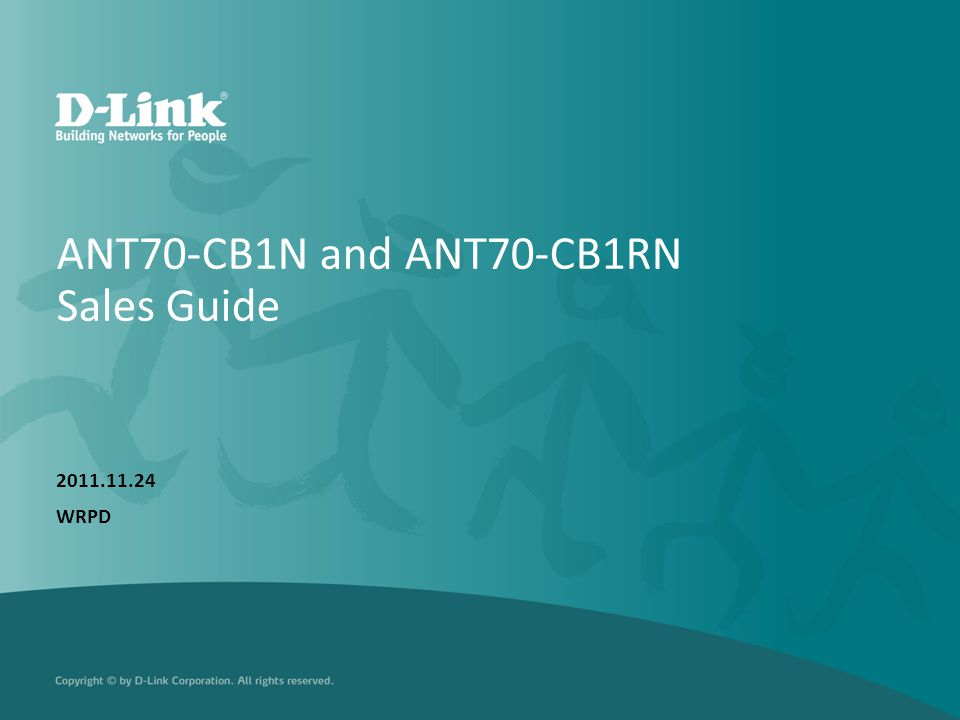 ANT70-CB1N and ANT70-CB1RN Sales Guide 2011.11.24 WRPD