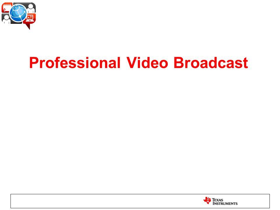 Professional Video Broadcast