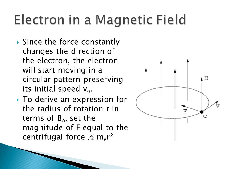 Since the force constantly changes the direction of the electron, the electron will start moving in a circular pattern preserving its initial speed v