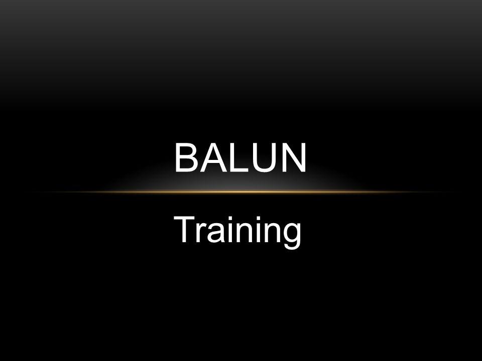 Training BALUN
