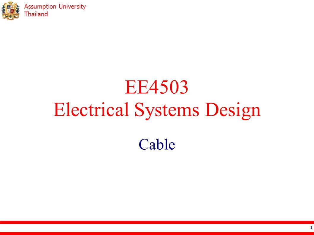 Assumption University Thailand Cable Selection – Voltage Drop 32 Z cable Z load 220 V (AC)