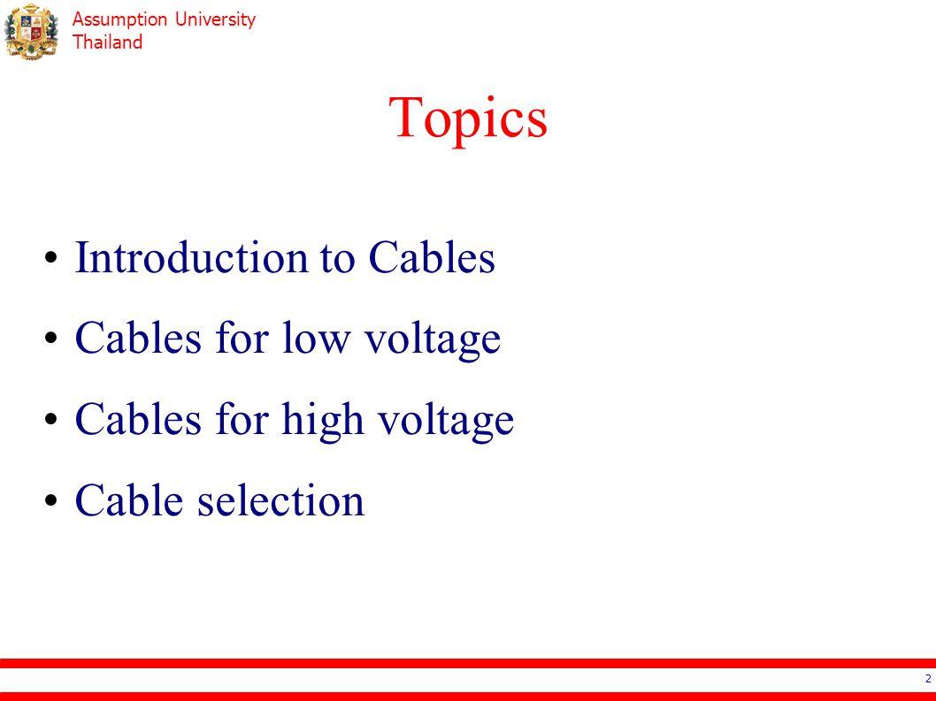 Assumption University Thailand Cable Selection – Voltage Drop 33
