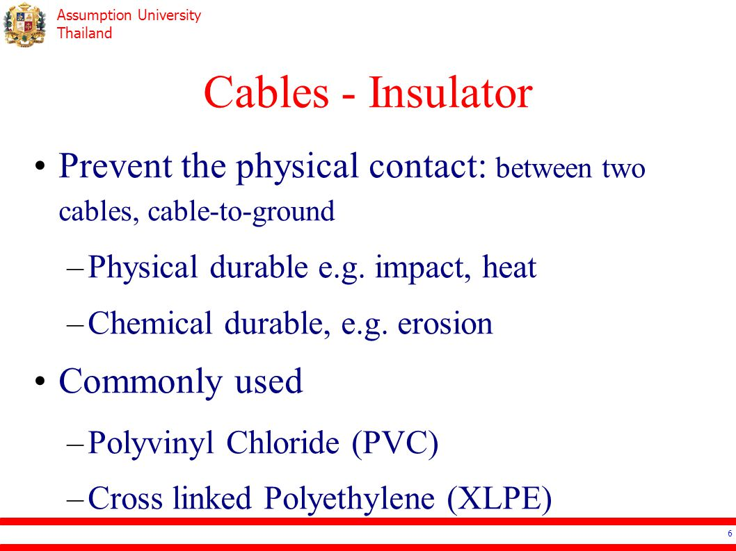 Assumption University Thailand Cables for Low Voltage Fire Resistant Cable Flame Retardancy Flame Propagation Acid and Corrosive Gas Emission Smoke Emission Fire Resistance (Circuit Integrity) 17