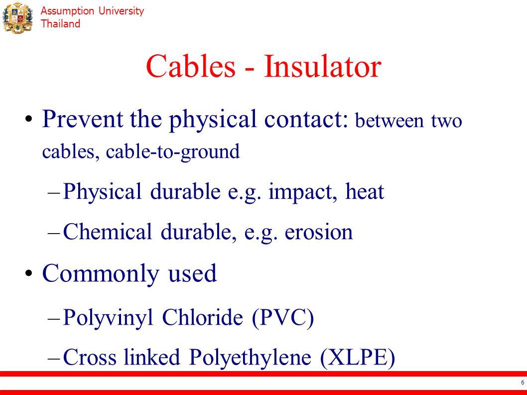 Assumption University Thailand Cables - Insulator http://www.gridcables.com/power-cable.html 7
