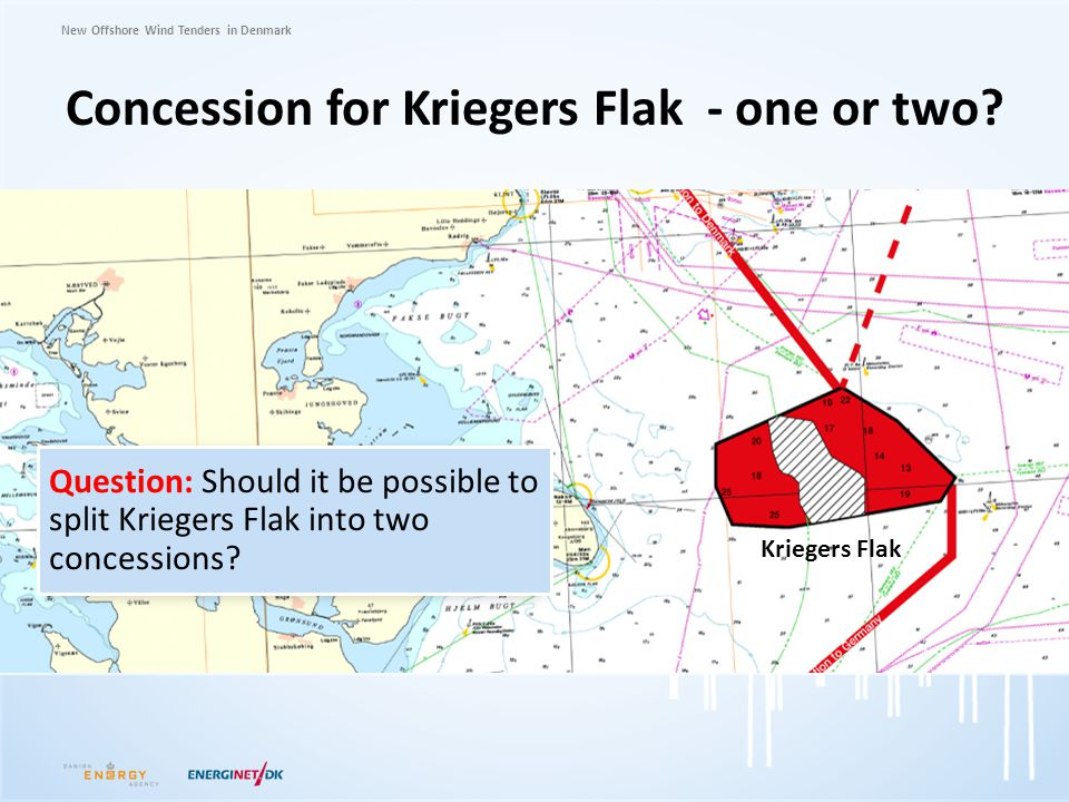 New Offshore Wind Tenders in Denmark Concession for Kriegers Flak - one or two? Question: Should it be possible to split Kriegers Flak into two conces