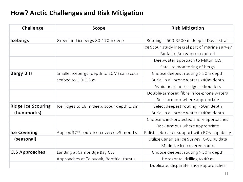 11 How Arctic Challenges and Risk Mitigation